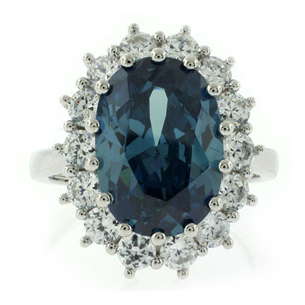 Princess Kate Style Alexandrite .925 Sterling Silver Ring