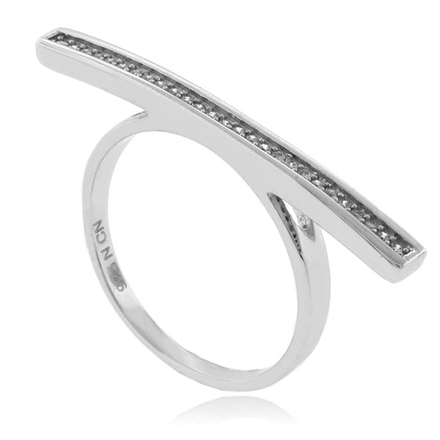 Gorgeous MicroPave .925 Silver Ring
