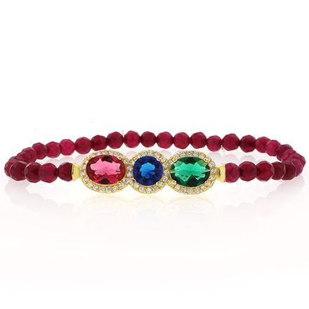 Gorgeous Multigemstone Beaded Stretch Bracelet