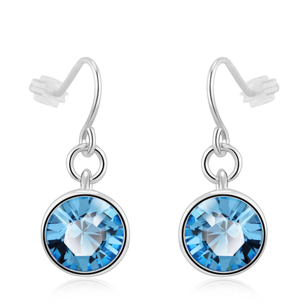 Aretes Elegantes de Swarovski Color Azul