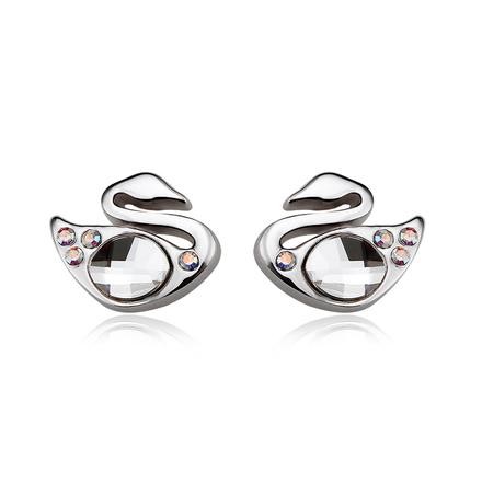Beautiful Swarovski White Color Swan Earrings