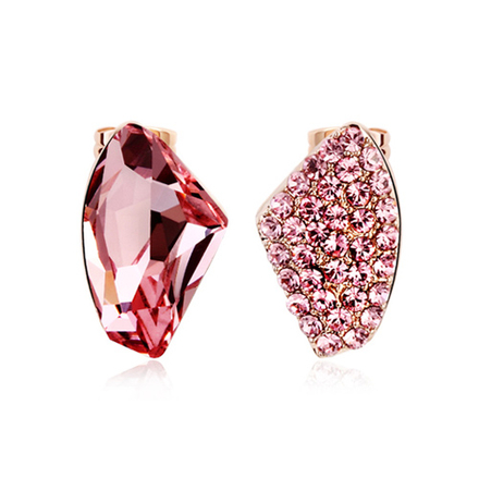 Bonito Juego de Collar y Aretes de Bailarina Color Rosa