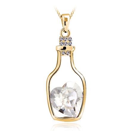 Swarovski Crystal Necklace with 18k Gold Plated Bottle