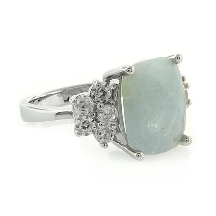 Aquamarine .925 Sterling Silver Ring
