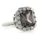 Emerald Cut Alexandrite Ring in 925 Sterling Silver