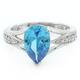 Elegant Blue Topaz .925 Silver Ring