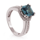 Asscher Cut Color Changing Alexandrite Stone Ring