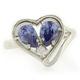 Heart Shape Tanzanite .925 Silver Ring