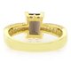 Smoked Topaz Emerald Cut Gemstone Sterling Silver Ring
