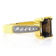 Smoked Topaz Emerald Cut Gemstone Sterling Silver Ring
