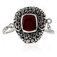 Genuine Red Coral Antique Sterling Silver Bracelet