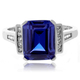 Majestic Tanzanite Sterling Silver Ring