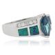 Marquise Cut Alexandrite Opal Silver Ring