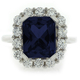 Beautiful Blue Sapphire Silver Ring