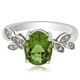 Oval Cut Alexandrite .925 Silver Ring ( Green/Brownish)