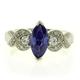 Elegant Marquise Cut Tanzanite Ring