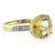 10K Yellow Gold Natural Citrine Ring