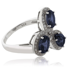 3 Color Change Alexandrite Sterling Silver Ring