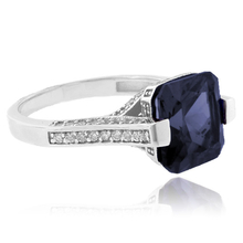 Cushion Cut Color Change Alexandrite Sterling Silver Ring