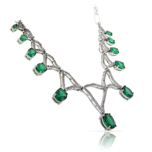 High Quality Emerald .925 Sterling Silver Necklace