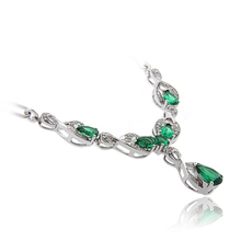 Luxury Emerald .925 Sterling Silver Necklace