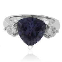 Marquise Cut Color Change Alexandrite Sterling Silver Ring