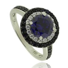 Silver Ring With Round Cut Tanzanite Gemstone
