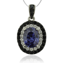 Silver Pendant With Tanzanite in Oval Cut
