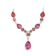 Beautiful Pink Swarovski Crystal Necklace