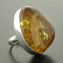 Authentic Baltic Amber Silver Ring